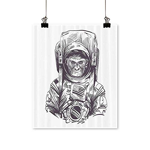 Canvas Prints Wall Art Mkey Vintage American Spacesuit Wild Gorilla Invasi of Ethereal Home Artwork for Wall Decor,24