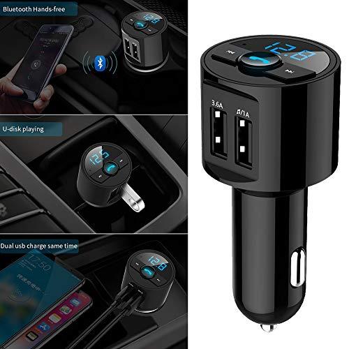 Lljin Bluetooth Car Kit MP3 Wireless FM Transmitter Dual USB Charger Handsfree Silver