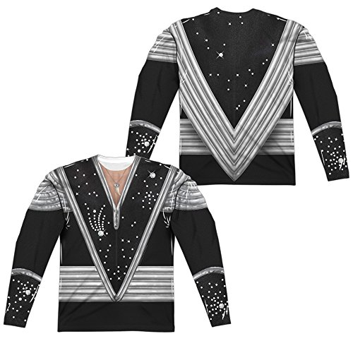 Kiss Spaceman Costume Unisex Adult Front Only Long-Sleeve Sublimated T Shirt for Men and Women ()