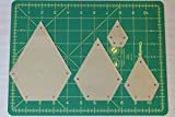Jewel Quilting Template Set, 4'', 3'', 2'', 1'' with 1/4'' Seam Allowance