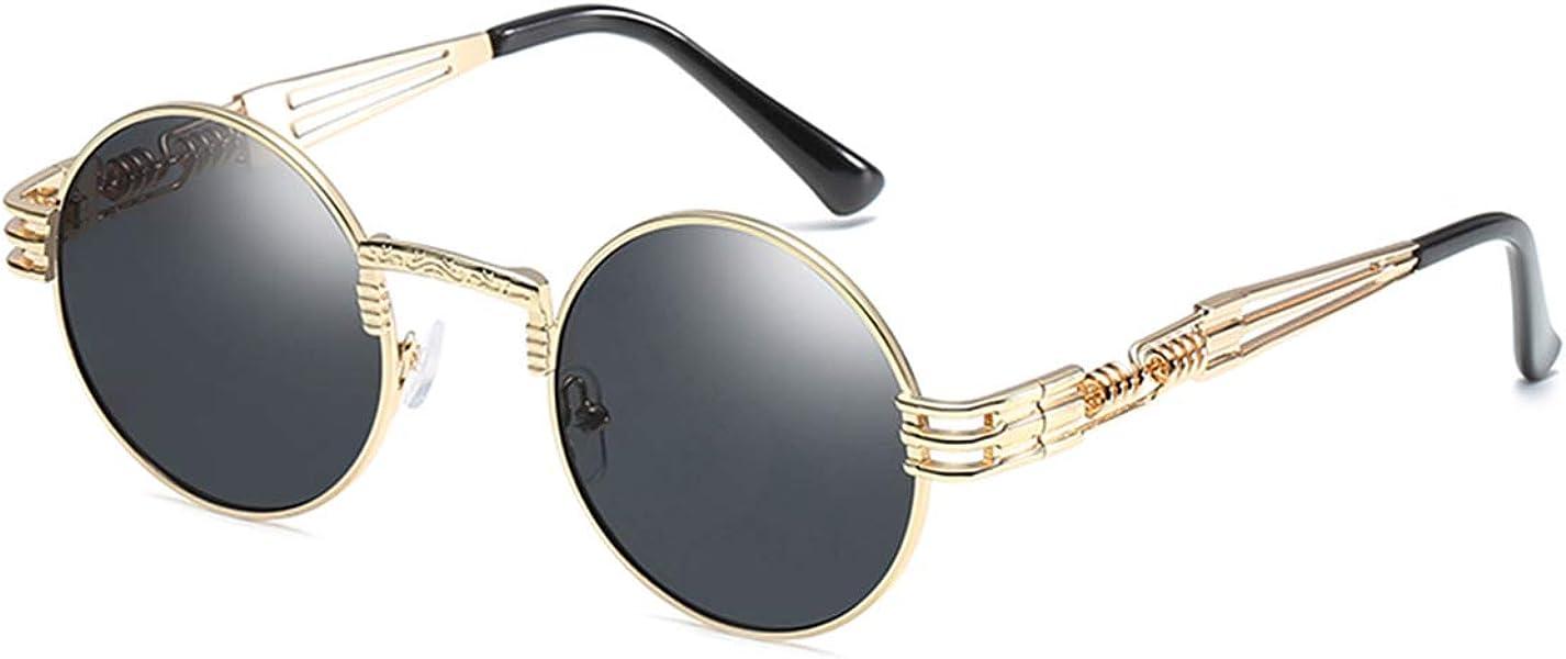 17eacf44794c GAMT John Lennon Glasses Quavo Steampunk Round Sunglasses Circle Metal  Frame Eyewear for Men and Women