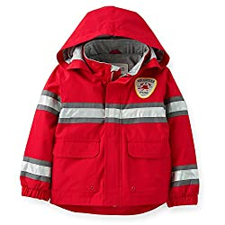 Carter's Baby Boys' Hooded Rain Jacket (12 Months, Yellow Policeman)
