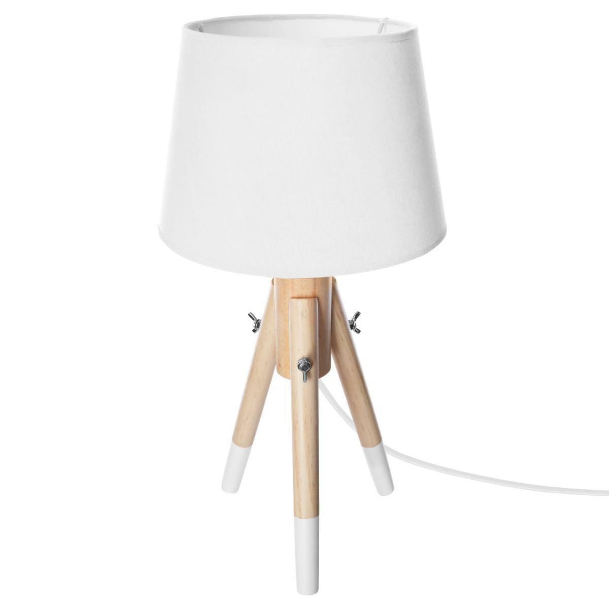 Decoratie Lampe en Bois Miry Blanc