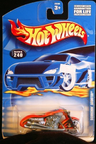 Hot Wheels - Die-Cast Scorchin' Scooter Duncan Motorcycle - Collector #240