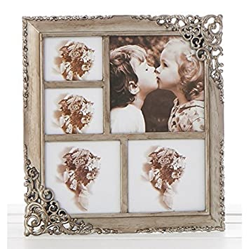 Vintage Style Ornate Rustic Metal Multi Photo Frame New Boxed ...
