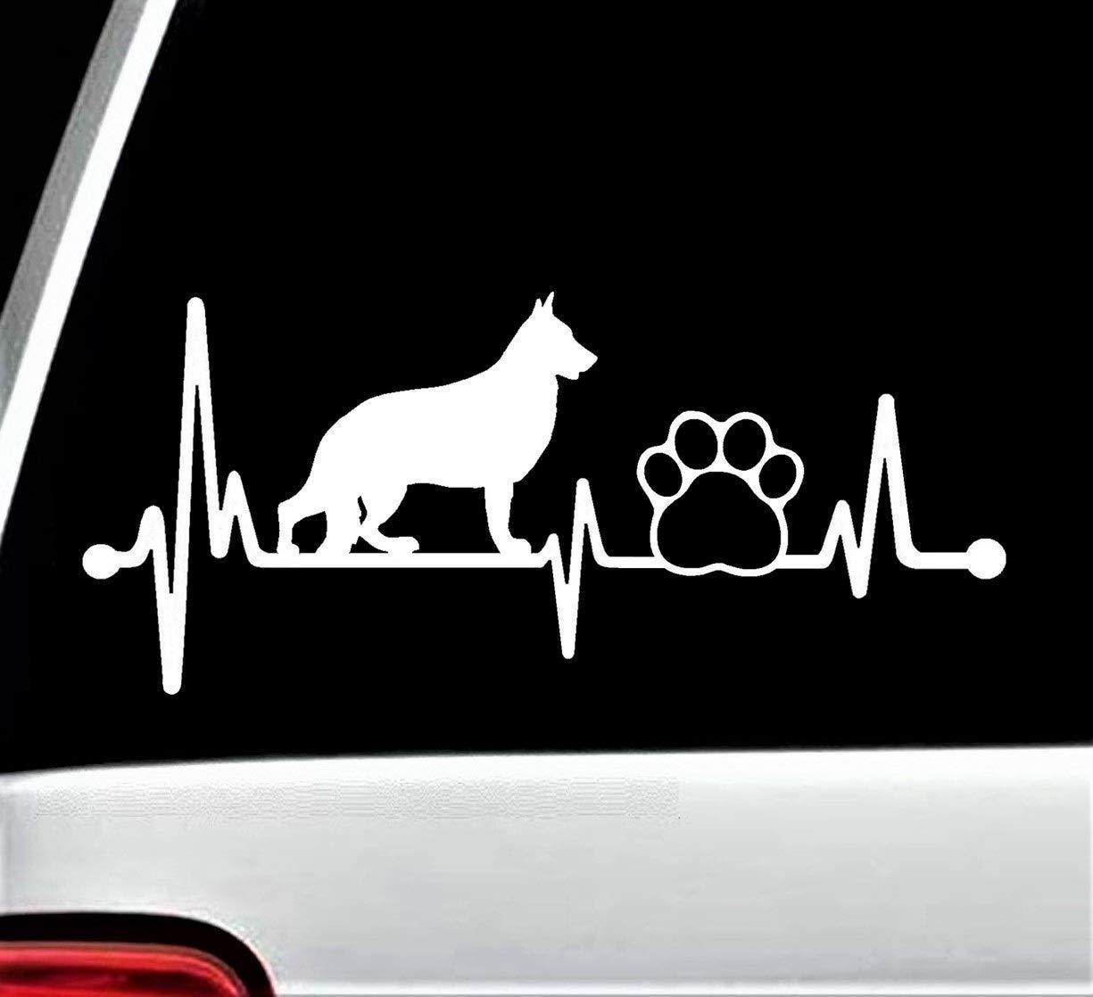 German shepherd pet paw heartbeat lifeline dog decal sticker for car window 8 inch bg 139 amazon ca handmade