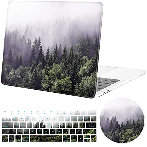 DEENAKIN MacBook Pro 15 Inch Case 2016 2017 2018 Release A1990/A1707 Touch Bar,Shock-Proof Anti-Scratch Plastic Hard Shell Protective Case with Keyboard Cover Mouse pad for MacBook Pro 15 Inch
