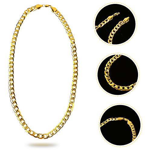 Beelittle 80s/90s Hip Hop Costume Old Style Cool Rapper Outfits - Bucket Hat Oversized Black Sunglasses Gold Plated Chain (A) by Beelittle (Image #3)