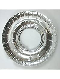 Purchase 80 Aluminum Foil Round Gas Burner Bib Liners Covers Disposable Wholesale 9