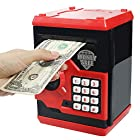 HUSAN New Great Gift Toy for Children Kids Code Electronic Piggy Banks Mini ATM Electronic Save Money Coin Bank Coin Box For children fun toy