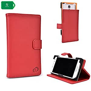 RED | SMARTPHONE HOLDER WITH FOLDING COVER STAND AND CAMERA ACCESS UNIVERSAL FIT FOR ZTE Source