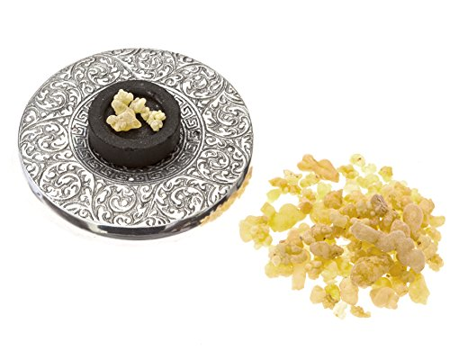 (Alternative Imagination Premium Frankincense Burning Kit with Tibetan Incense Burner Plate)