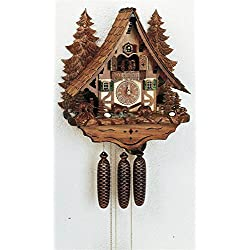 8-Day Chalet Style Black Forest House Cuckoo Clock