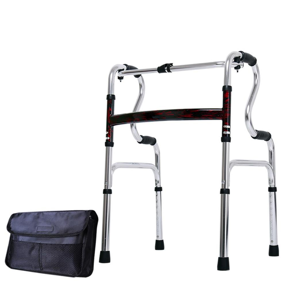 LUCKYYAN Drive Healthcare YC8209 Thickened aluminum alloy Folding Walking Frame with Rear Wheels , a by LUCKYYAN (Image #1)