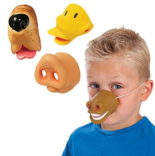 Farm Faces Kid's Animal Noses -Costume Accessory Party Favors - Set of 4