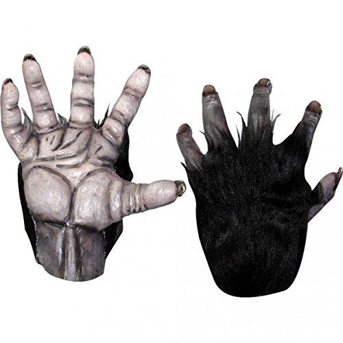 [Black Chimp Hands Costume Gloves] (Chimp Hands Costume)