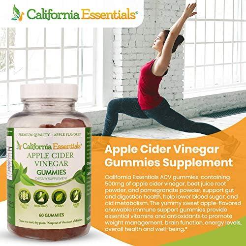 Apple Cider Gummies - Immune, Detox, Cleanse, Weight Loss, Energy, Gut Health & Immune Support Vitamins - with Pomegranate & Beet Juice - Vegan, Gluten-Free - 60 ACV Gummies Supplement 4