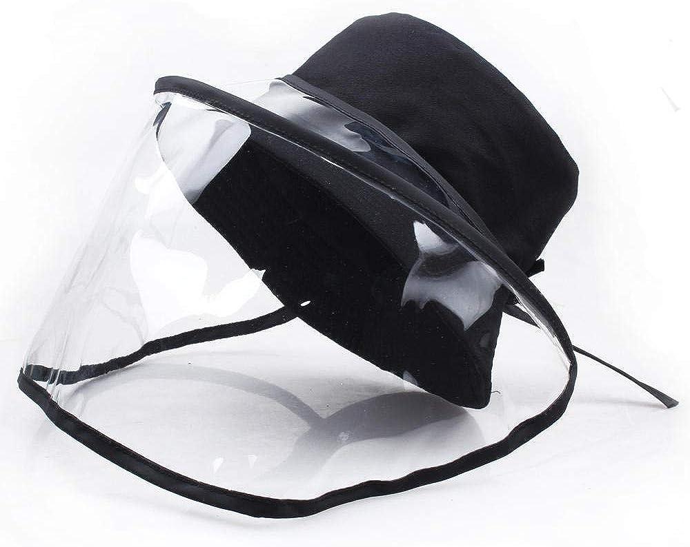 WPHH Las Mujeres previenen Las Gotas del Sombrero Protección contra la Gripe de Contacto Hombres prevención de Salpicaduras en la Cara Completa mascarilla Protectora