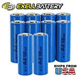 10pk 3.2V 800mAh 18500 Li-FePO4 Rechargeable Batteries For Solar Lights Garden Lights , Security System Panels, LED Flashlights FAST USA SHIPPING