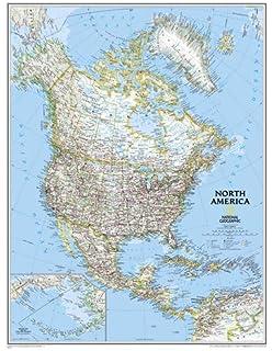 Map Of Canada America.Amazon Com North America Wall Map Atlas Of Canada 34 X 39