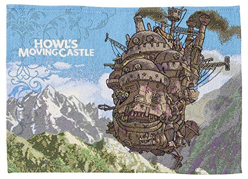 Marushin Studio Ghibli Howl's Moving Castle Woven Place Mat 33x48cm Castle in The Sky 1165024800 Japan Import