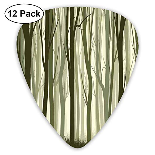 Celluloid Guitar Picks - 12 Pack,Abstract Art Colorful Designs,Snowman And Woman Romantic Couple In Love Valentines Holding Hands Grunge,For Bass Electric & Acoustic Guitars.]()