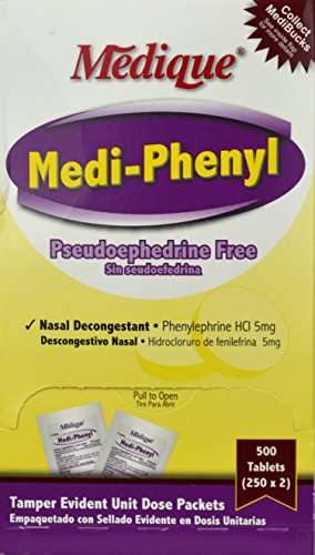 edi-Phenyl Tab Decongestant Oral 250x2/Bx Made by Medique Pharmaceuticals (Oral Decongestant)