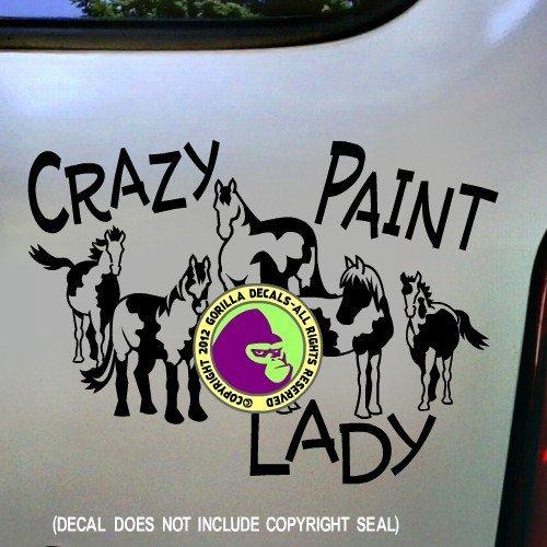 CRAZY PAINT LADY Horses Vinyl Decal Sticker E