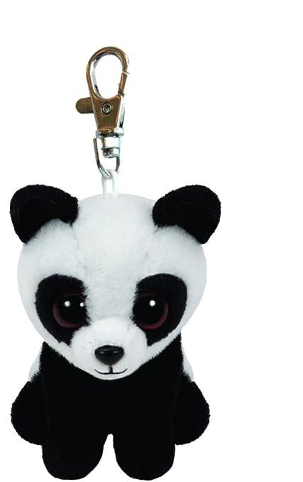 589388e8d6a Amazon.com  Ty Beanie Babies Baboo the Panda Clip Plush Key chain Toy  Car  Electronics