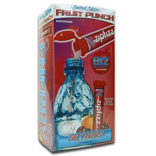 Zipfizz Healthy Energy Drink Mix - Fruit Punch Flavor - Diet