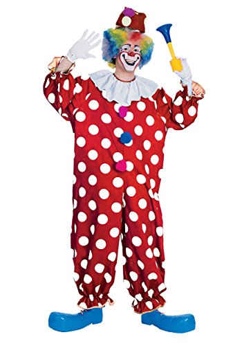 (Rubie's Haunted House Collection Dotted Clown Costume, Red, One)