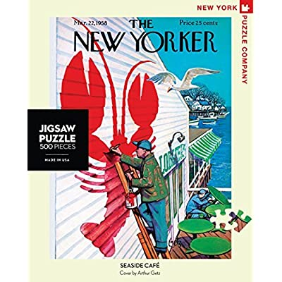 New York Puzzle Company - New Yorker Seaside Café - 500 Piece Jigsaw Puzzle: Toys & Games [5Bkhe2000800]