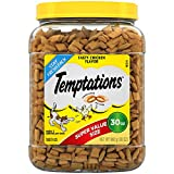 TEMPTATIONS Classic Cat Treats Tasty Chicken Flavor, 30 oz. Tub