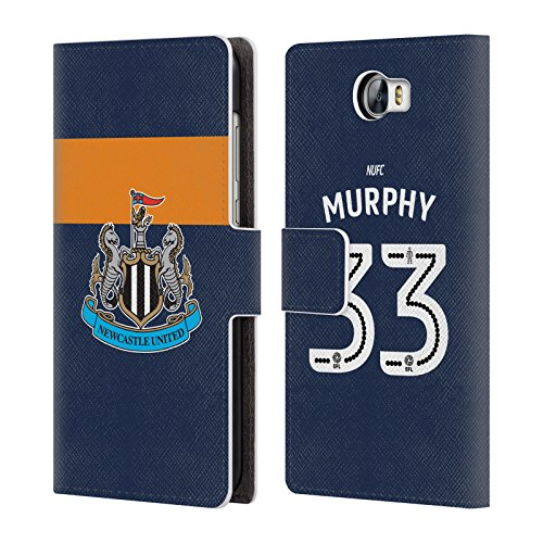 Murphy Wallet Compact (Official Newcastle United FC NUFC Murphy 2016/17 Players Away Kit 2 Leather Book Wallet Case Cover For Huawei Y6 II Compact)