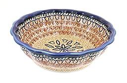 Polish Pottery Fall Moon Medium Scallop Bowl