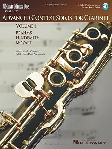 Music Minus One Clarinet: Advanced Contest Solos, Vol. I (Book & CD)