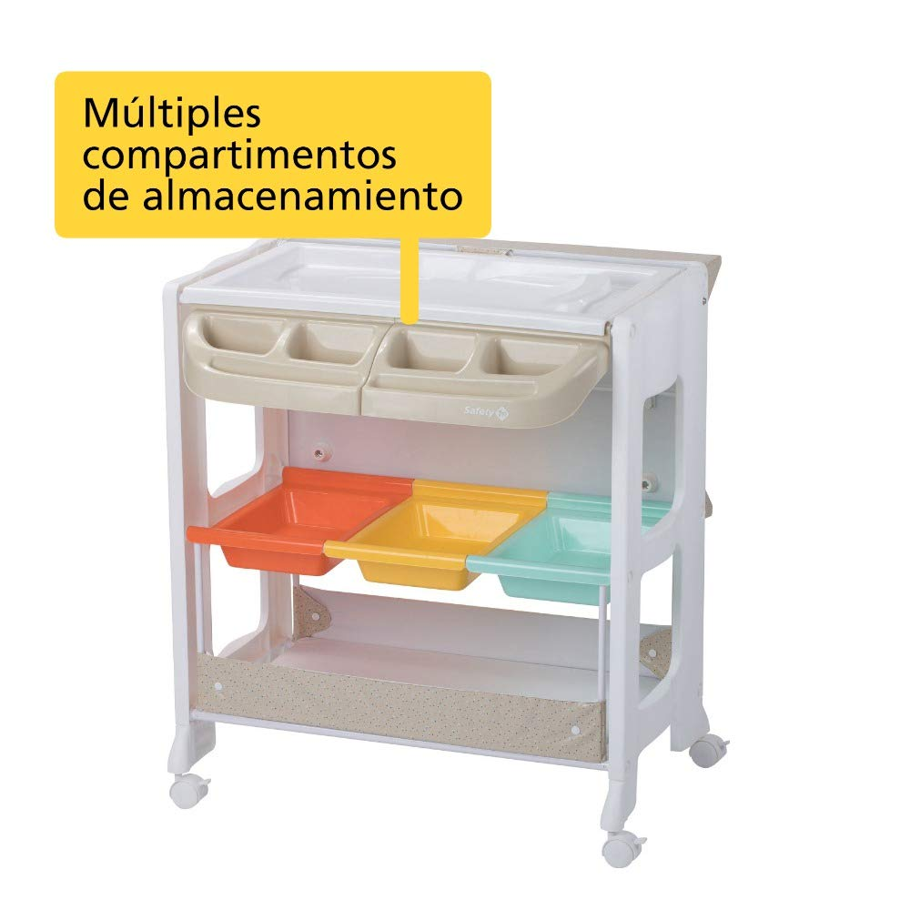 Safety 1st DOLPHY Warm Gray - Mueble Cambiador, color beige