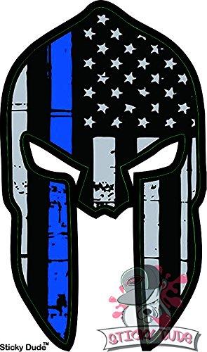 2pcs-Thin-Blue-Line-Spartan-Helmet-Window-decal-4-Size-Police-Fire-FOP-911-Car-Sticker-USA-sticker-decal