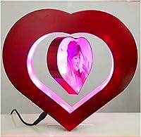 E-Plaza Love Heart Magnetic Levitation Anti Gravity Floating Photo Frame with LED Lights