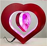 levitating picture frame - E-Plaza Love Heart Magnetic Levitation Anti Gravity Floating Photo Frame with LED Lights