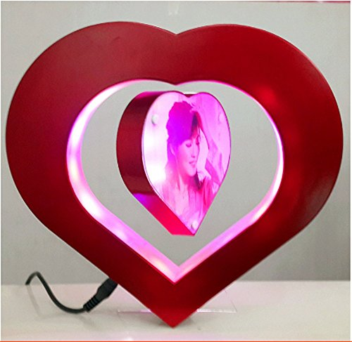 Love Heart Magnetic Levitation Anti Gravity Floating Photo Frame with LED Lights