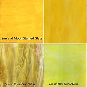 Amazon YELLOW Stained Glass Sheet Pack Home Kitchen