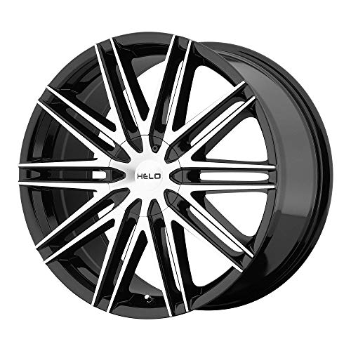 HELO HE880 GLOSS BLACK W/MACHINED FACE HE880 20x8.5 5x115.00/5x120.00 GLOSS BLACK W/MACHINED FACE (42 mm) rims