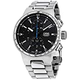 Oris Men's Williams F1 Swiss-Automatic Watch with Stainless-Steel Strap, Silver, 22 (Model: 77477174154MB)