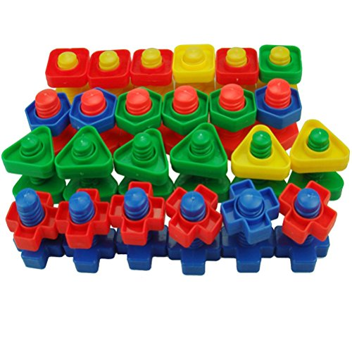 TOYMYTOY Jumbo Nuts Bolts Set Montessori Materials Fine M...