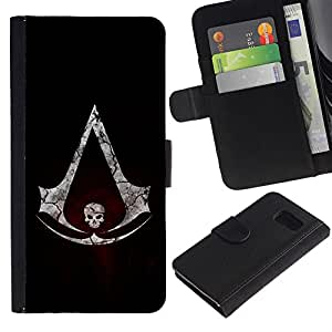 All Phone Most Case / Oferta Especial Cáscara Funda de cuero Monedero Cubierta de proteccion Caso / Wallet Case for Sony Xperia Z3 Compact // Assassins Logo Skull