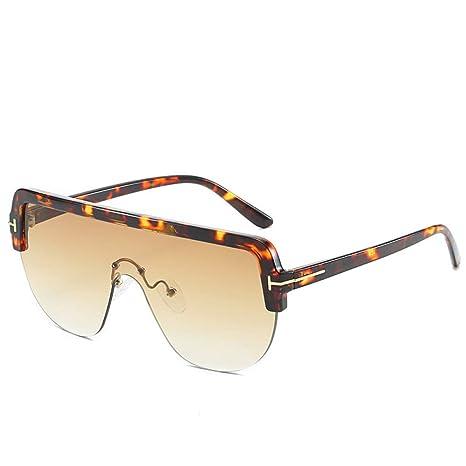 Yangjing-hl Gafas de Sol de Moda con Montura Grande Gafas de ...