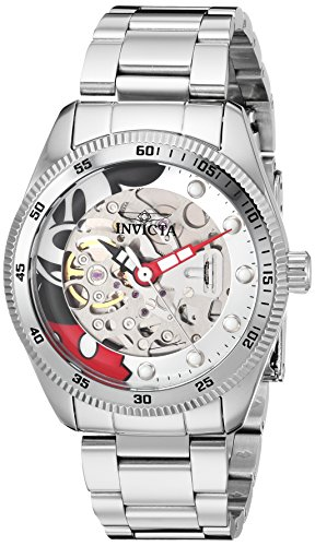 Invicta Women's 'Disney Limited Edition' Automatic Stainless Steel Casual Watch, Color:Silver-Toned (Model: 25347)
