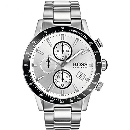 Hugo Boss Men's Rafale Watch 1513511 Silver 44mm Stainless Steel