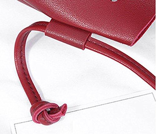 Medium Ladies Messenger Girls Shoulder Women For KONFA Bags Bag Crossbody Red Teen Tassels Tote vxqT48